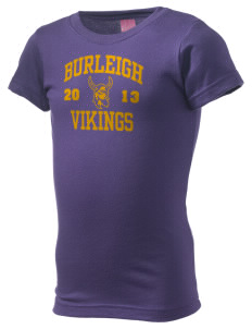 Burleigh Elementary School Vikings  Girl's Fine Jersey Longer Length T-Shirt