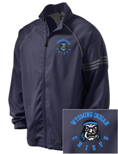 Wyoming Indian High School Chiefs Embroidered adidas Men's ClimaProof Jacket