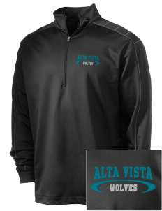 Alta Vista Elementary School Wolves Embroidered Nike Men's Golf Dri-Fit 1/2 Zip