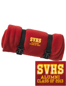 Star Valley High School Braves Embroidered Fleece Blanket with Strap
