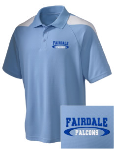 Fairdale Elementary School Falcons Embroidered Holloway Men's Frequency Performance Pique Polo