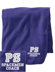 Pine Shadows Elementary School Spacemen Embroidered Holloway Stadium Fleece Blanket