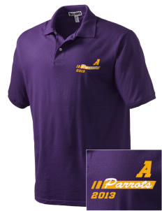 Acton Elementary School Parrots Embroidered Men's Jersey Polo