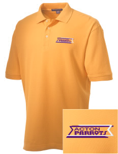 Acton Elementary School Parrots Embroidered Men's Performance Plus Pique Polo