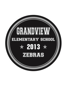 Grandview Elementary School Zebras Sticker