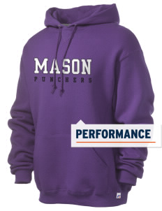 Mason High School Punchers Russell Men's Dri-Power Hooded Sweatshirt