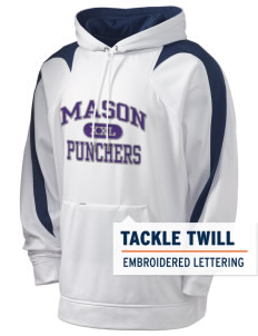 Mason High School Punchers Holloway Men's Sports Fleece Hooded Sweatshirt with Tackle Twill
