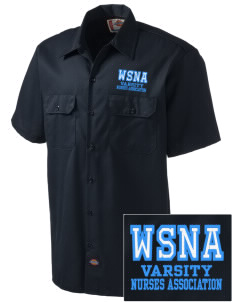 Washington State Nurses Association Embroidered Dickies Men's Short-Sleeve Workshirt