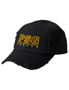 Pecos Seventh Grade School Eagles Embroidered Distressed Cap