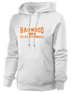 Harwood Junior High School Blackhawks Russell Women's Pro Cotton Fleece Hooded Sweatshirt