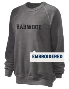 Harwood Junior High School Blackhawks Embroidered Unisex Alternative Eco-Fleece Raglan Sweatshirt