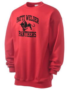 Patti Welder Middle School Panthers Men's 7.8 oz Lightweight Crewneck Sweatshirt