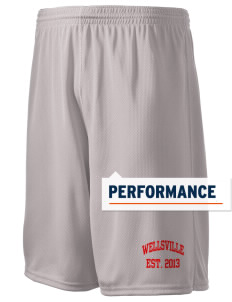 "Wellsville Elementary School Warriors Holloway Men's Speed Shorts, 9"" Inseam"