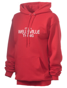 Wellsville Elementary School Warriors Unisex 7.8 oz Lightweight Hooded Sweatshirt