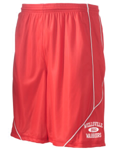"Wellsville Elementary School Warriors Men's Pocicharge Mesh Reversible Short, 9"" Inseam"