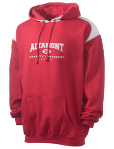 Altamont High School Longhorns Men's Pullover Hooded Sweatshirt with Contrast Color