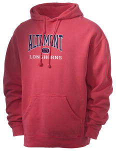 Altamont High School Longhorns Men's 80/20 Pigment Dyed Hooded Sweatshirt