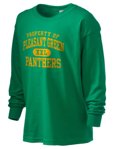 Pleasant Green Elementary School Panthers Kid's 6.1 oz Long Sleeve Ultra Cotton T-Shirt
