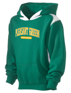 Pleasant Green Elementary School Panthers Kid's Pullover Hooded Sweatshirt with Contrast Color