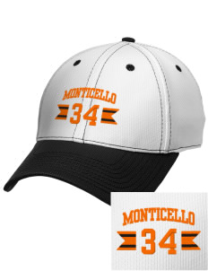 Monticello High School Buckaroos Embroidered New Era Snapback Performance Mesh Contrast Bill Cap