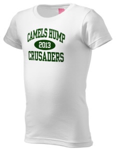Camels Hump Middle School Crusaders  Girl's Fine Jersey Longer Length T-Shirt