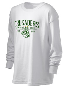 Camels Hump Middle School Crusaders Kid's 6.1 oz Long Sleeve Ultra Cotton T-Shirt