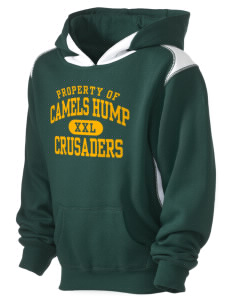 Camels Hump Middle School Crusaders Kid's Pullover Hooded Sweatshirt with Contrast Color