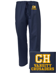 Camels Hump Middle School Crusaders Embroidered Scrub Pants