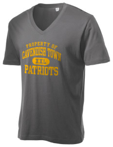 Cavendish Town Elementary School Patriots Alternative Men's 3.7 oz Basic V-Neck T-Shirt
