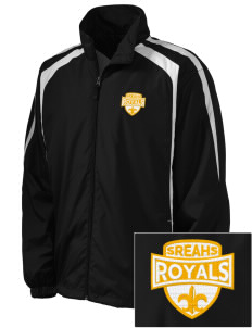 South Royalton Elementary And High Royals Embroidered Men's Colorblock Raglan Jacket