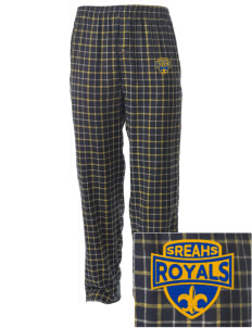 South Royalton Elementary And High Royals Embroidered Men's Button-Fly Collegiate Flannel Pant