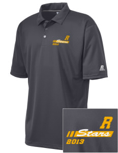 Randolph Elementary School Stars Embroidered Russell Coaches Core Polo Shirt