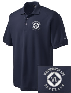 Washington-Lee High School Generals Embroidered Nike Men's Pique Knit Golf Polo