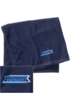 Yorktown High School Patriots Embroidered Beach Towel