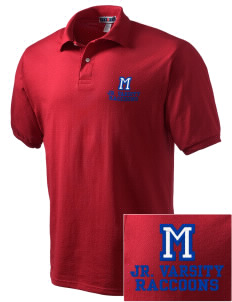 Mantua Elementary School Raccoons Embroidered Men's Jersey Polo