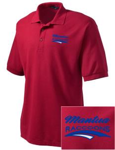 Mantua Elementary School Raccoons Embroidered Men's Silk Touch Polo