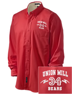 Union Mill Elementary School Bears Embroidered Men's Easy-Care Shirt