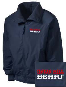 Union Mill Elementary School Bears Embroidered Men's Fleece-Lined Jacket