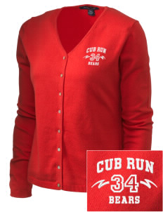 Cub Run Elementary School Bears Embroidered Women's Stretch Cardigan Sweater