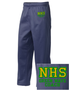Narrows High School Green Wave Embroidered Holloway Kid's Contact Warmup Pants