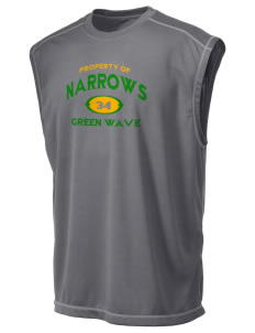Narrows High School Green Wave Champion Men's 4.1 oz Double Dry Odor Resistance Muscle T-Shirt