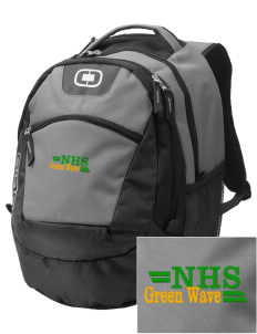 Narrows High School Green Wave Embroidered OGIO Rogue Backpack