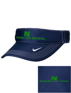 Narrows High School Green Wave Embroidered Nike Golf Dri-Fit Swoosh Visor