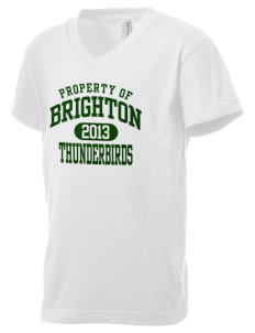 Brighton Elementary School Thunderbirds Kid's V-Neck Jersey T-Shirt