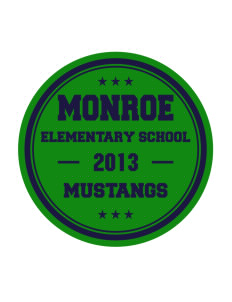 Monroe Elementary School Mustangs Sticker