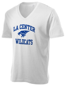 La Center High School Wildcats Alternative Men's 3.7 oz Basic V-Neck T-Shirt