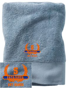 Sacajawea Elementary School Sky Hawks Embroidered Zero Twist Resort Towel