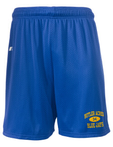 "Butler Acres Elementary School Blue Jays  Russell Men's Mesh Shorts, 7"" Inseam"