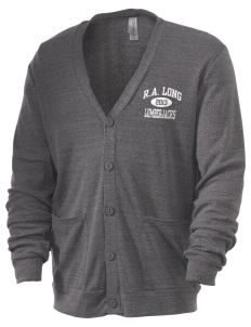 R.A. Long High School Lumberjacks Men's 5.6 oz Triblend Cardigan