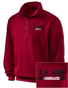 R.A. Long High School Lumberjacks Embroidered Men's 1/4-Zip Sweatshirt